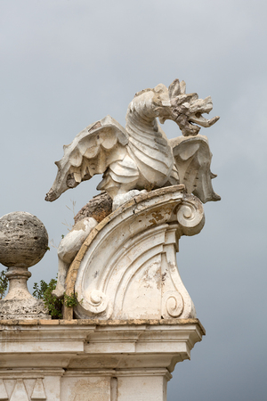winged dragon: The winged dragon of Villa Borghese, Rome