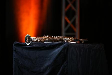 soprano: Saxophone soprano jazz music instrument Stock Photo