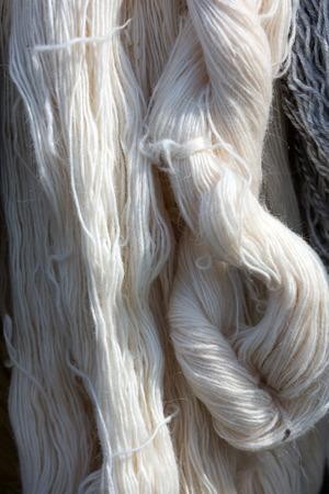 hank: Close up of hank wool
