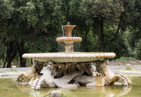 villa borghese: Fountain in Garden of Villa Borghese. Rome, Italy