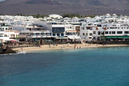 blanca: Playa Blanca on Lanzarote. Canary Island .Spain Stock Photo
