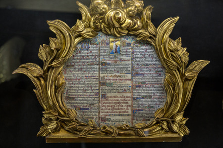 treasury: Splendid exhibition goods of the treasury of the cathedral Notre-Dame . Paris, France