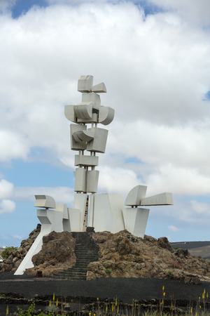 manrique: MOZAGA, LANZAROTE ,SPAIN - SEPTEMBER 9, 2015:  The Monumento al Campesino in Mozaga erected by the artist Cesar Manrique in the year 1986 is a memorial in honour of the hard working peasant farmers of Lanzarote