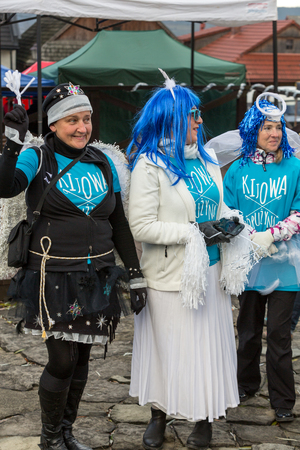 promotes: LANCKORONA, POLAND - DECEMBER 12, 2015: the winter-festival Angel in the country town. In this original way for many years now the country town promotes itself before tourists. Lanckorona, Poland Editorial