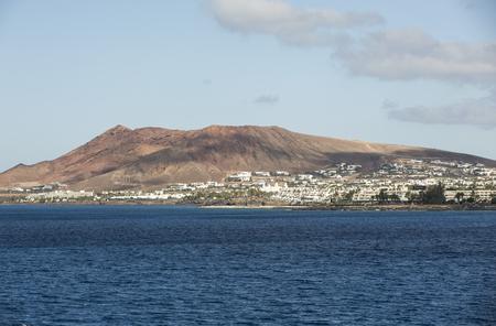 playa blanca: Playa Blanca on Lanzarote. Canary Island .Spain Stock Photo