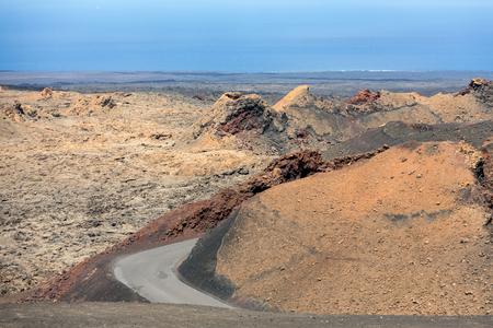 timanfaya: Timanfaya National Park in Lanzarote, Canary Islands, Spain