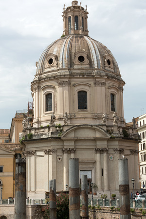 name day: Rome, Italy. The Church of the Most Holy Name of Mary at the Trajan Forum (Italian: Santissimo Nome di Maria al Foro Traiano)