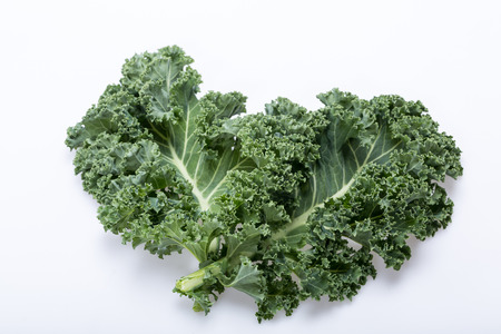 A healthy fresh curly kale Imagens