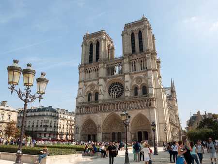 notre dame: The cathedral of Notre Dame in Paris . France