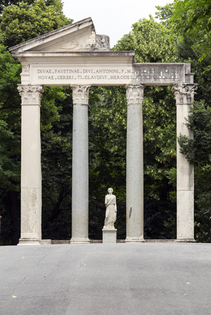 villa borghese: Ruins of a temple in Villa Borghese public park in Rome. Italy
