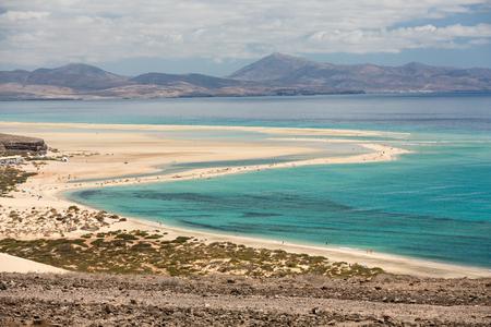 Beach Playa de Sotavento, Canary Island Fuerteventura, Spain Stock Photo