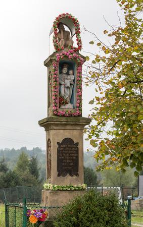 devotional: Old Wayside shrine in Skawina near Cracow. Poland