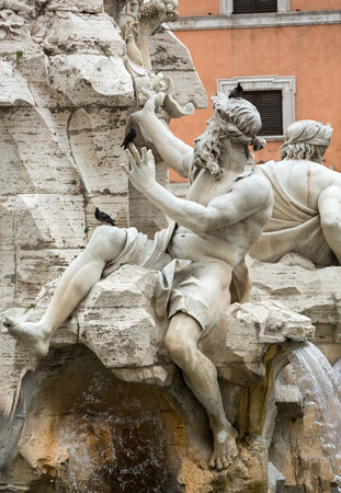 navona: The Fountain of the Four Rivers - Piazza Navona, Rome, Italy