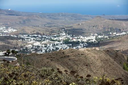 spanish homes: Village Uga on Canary Island Lanzarote, Spain Stock Photo