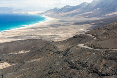 raod: A raod to Playa de Cofete, Fuerteventura, Canary Islands, Spain