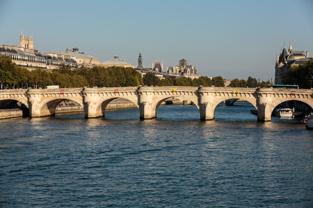 cite: Pont Neuf and Cite Island in Paris, France Editorial