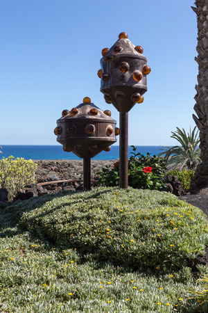 manrique: Jameos del Agua - The modern  sculpture designed by Cesar Manrique, Lanzarote, Canary Island, Spain.