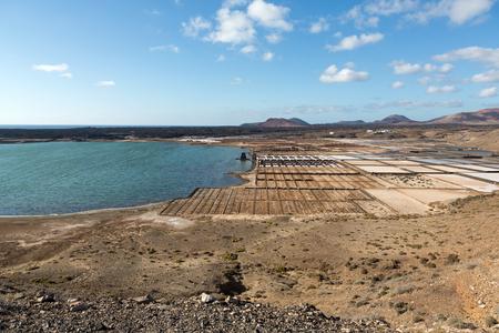 lanzarote: Salt works of Janubio, Lanzarote, Canary Islands