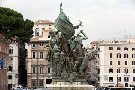 altar of fatherland: Altar of the Fatherland (Altare della Patria) known as the Monumento Nazionale a Vittorio Emanuele II (National Monument to Victor Emmanuel II) or Il Vittoriano in Rome, Italy