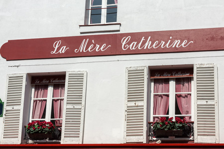 mere: Montmartre - Windows with shutters of la Mere Catherine.First bistro in  Paris.