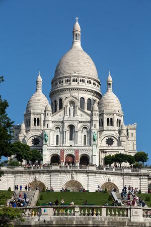 sacre: Basilica of the Sacre Coeur on Montmartre, Paris, France