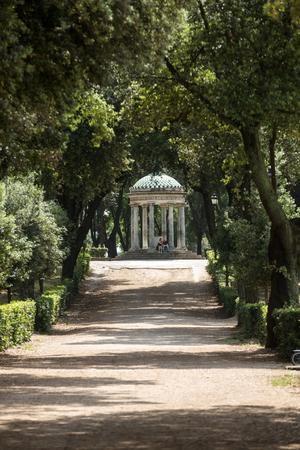 holiday villa: Temple of Diana in garden of Villa Borghese. Rome, Italy