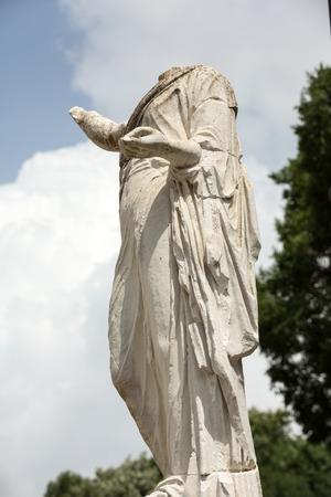 villa borghese: Marble statue in Villa Borghese public park in Rome. Italy Italy Stock Photo