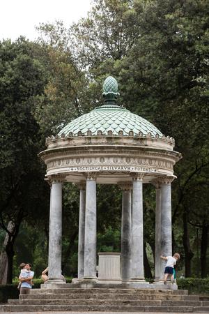 camillo: Temple of Diana in garden of Villa Borghese. Rome, Italy