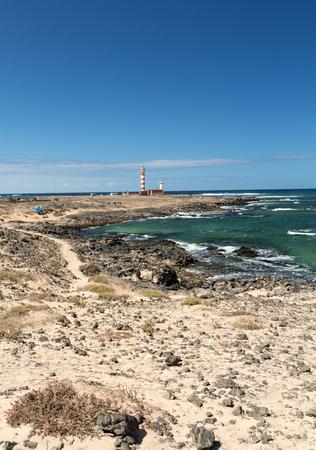 canary island: The Toston Lighthouse - active lighthouse on the Canary island of Fuerteventura. Spain