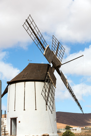 antigua: Old windmill in Antigua village, Fuerteventura, Canary Islands, Spain