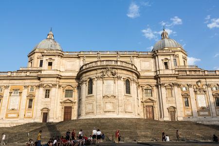 cappella: Basilica di Santa Maria Maggiore, Cappella Paolina, view from  Piazza Esquilino in Rome. Italy. Editorial