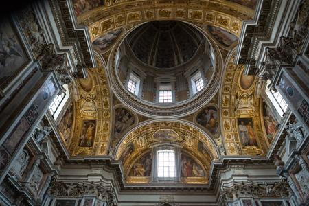 Interior of the Basilica Santa Maria Maggiore. Cupola of Sistine Chapel . Rome, Italy Editorial