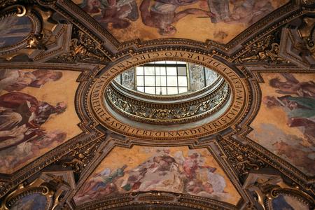 Interior of the Basilica Santa Maria Maggiore.  Rome. Italy Editorial