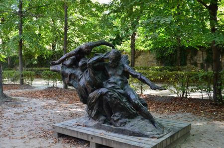 rodin: Statue in Rodin Museum in Paris