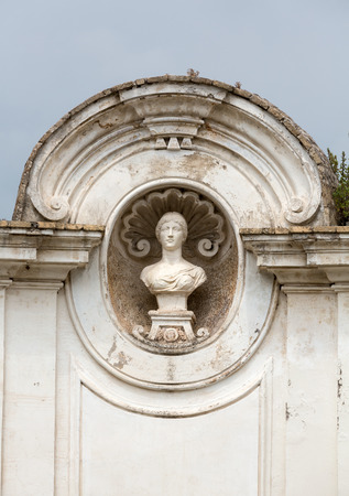 villa borghese: Rotonda di Goethe  in Garden of Villa Borghese. Rome, Italy Stock Photo