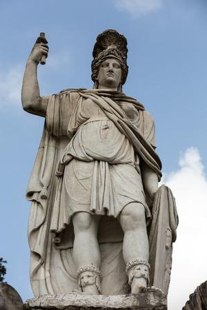 god walking: Rome, Italy - Pincio fountain at famous Piazza del Popolo square Stock Photo