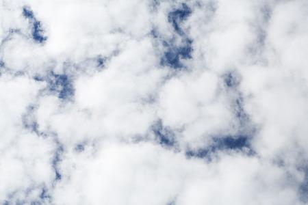 nimbi: White clouds on the blue sky Stock Photo