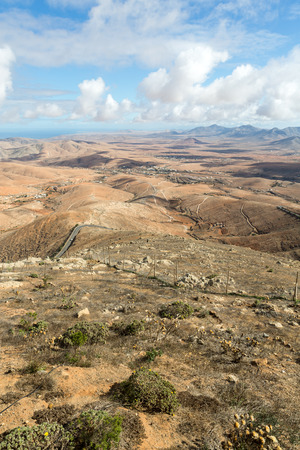 mirador: Volcanic Lanscape. Panoramic view  on  Fuerteventura from Mirador Morro Velosa, Fuerteventura, Canary Island, Spain