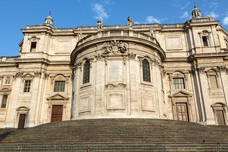 cappella: Basilica di Santa Maria Maggiore, Cappella Paolina, view from  Piazza Esquilino in Rome. Italy. Foto de archivo