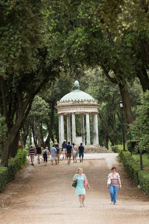 diana: Temple of Diana in garden of Villa Borghese. Rome, Italy