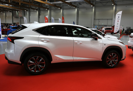lexus auto: CRACOW, POLAND - MAY 21, 2016: Lexus car displayed at 3rd edition of MOTO SHOW in Cracow Poland. Exhibitors present  most interesting aspects of the automotive industry Editorial