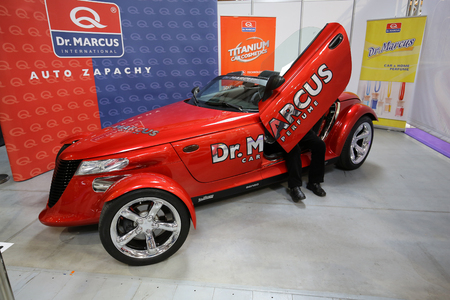 aspects: CRACOW, POLAND - MAY 21, 2016: 3rd edition of MOTO SHOW in Cracow Poland. Exhibitors present  most interesting aspects of the automotive industry