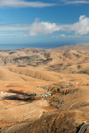fuerteventura: Panoramic view of Fuerteventura from Mirador Morro Velosa, Fuerteventura, Canary Island, Spain