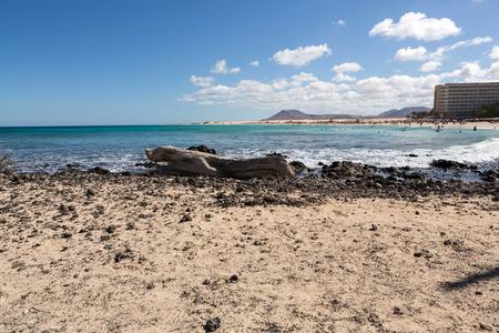 Corralejo Beach on Fuerteventura, Canary Islands. Spain Stock Photo