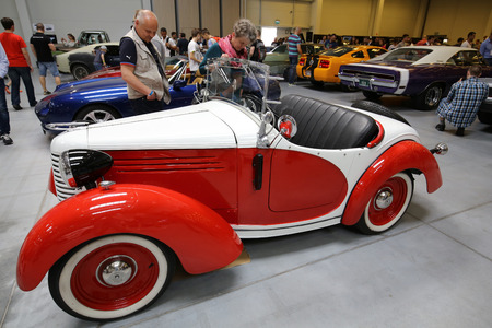 mickey: CRACOW, POLAND - MAY 21, 2016: 3rd edition of MOTO SHOW in Krakow. Bantam 60 the car made in 1938 , known as the car of the Mickey Mouse