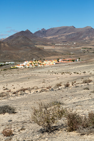 western part: La Pared village on the south western part of Fuerteventura . Canary Islands, Spain Stock Photo