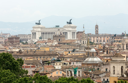 castel: The historic center of Rome seen from Castel SantAngelo. Roma, Italy