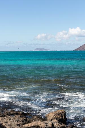 corralejo: Corralejo Beach on Fuerteventura, Canary Islands. Spain Stock Photo