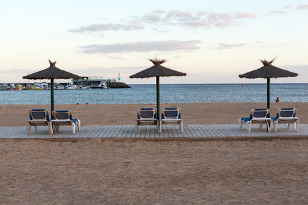 fuerteventura: Beach in Caleta de Fuste, Fuerteventura Spain Stock Photo