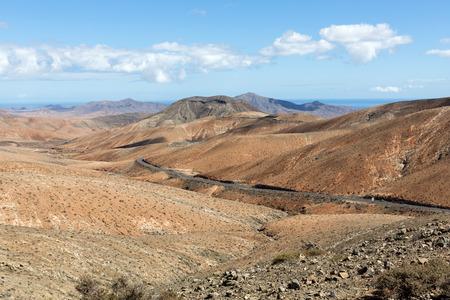 Beautiful volcanic mountains on  Fuerteventura. Canary Islands. Stock Photo